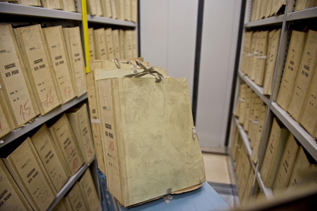 spolveratura archivio di stato